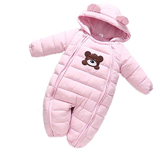 Guy Eugendssg Baby Girl Clothes Autumn Winter Coat Baby Boy Jumpsuit Cotton Star Overalls Newborn Outerwear Coats Pink 18M