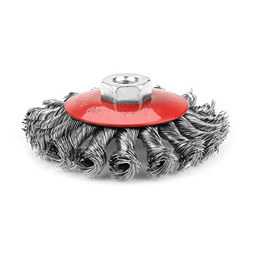Cepillo de rueda de alambre de acero torcido Cepillado de alambre de acero pulido para herramienta rotativa amoladora