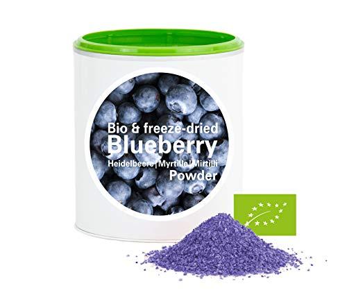 Poudre de myrtille - myrtilles biologiques lyophilisées | bio biologique | bleuets lyophilisés | good-superfruit de good-smoothie | 100% de fruits | sans additifs + de nombreux ingrédients