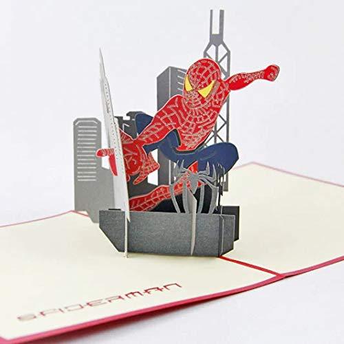 Tarjeta regalo felicitacion cumpleaños, san valentin, dia de la madre, (SPIDER MAN)