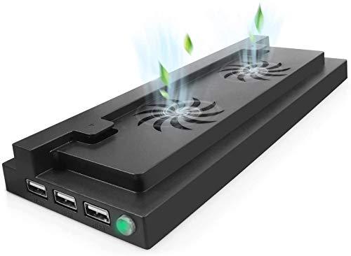 Soporte Vertical de Xbox One S con Ventilador de refrigeración y 3 Puertos de Cargador USB, diseño de Apariencia única Todo en uno