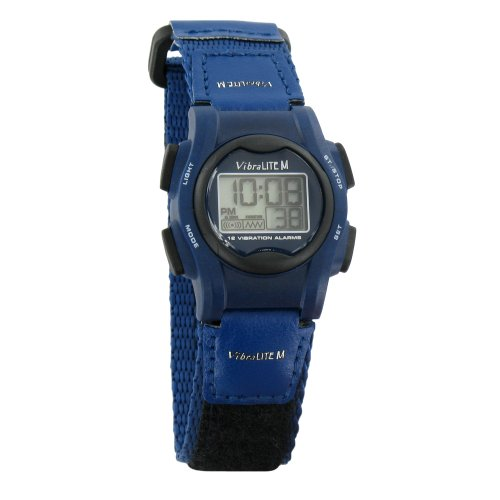 VibraLITE Mini 12-Alarm Vibrating Watch - Navy Blue