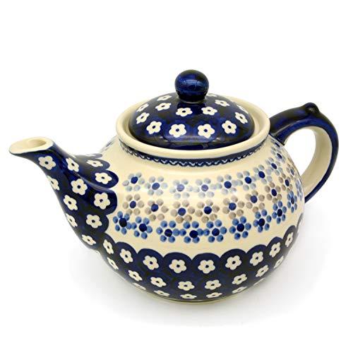 Bunzlauer Teekanne für ca 6 Tassen oder 1,25 Liter (Dekor Leonie)