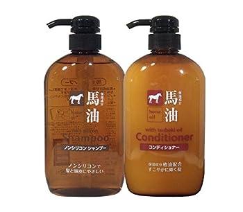 Kumano fat horse oil shampoo and conditioner each 600ml setAF27