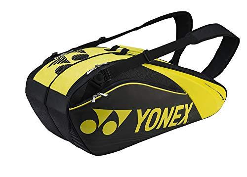 YONEX Pro Racket Thermobag 6er Schlägertasche, Schwarz, 68 x 40 x 20 cm