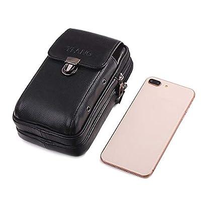 Womdee Sac banane en cuir pour homme avec passant de ceinture pour téléphone portable, portefeuille, clés