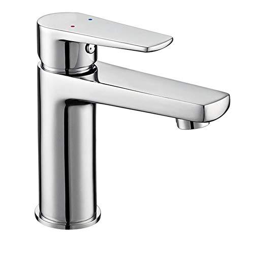 Kibath 427451 Grifo monomando de lavabo FUS diseño estilizado y redondeado. Fabricado en latón y acabado cromo brillo. Incluye herrajes, latiguillos y cartucho. Repuestos garantizados
