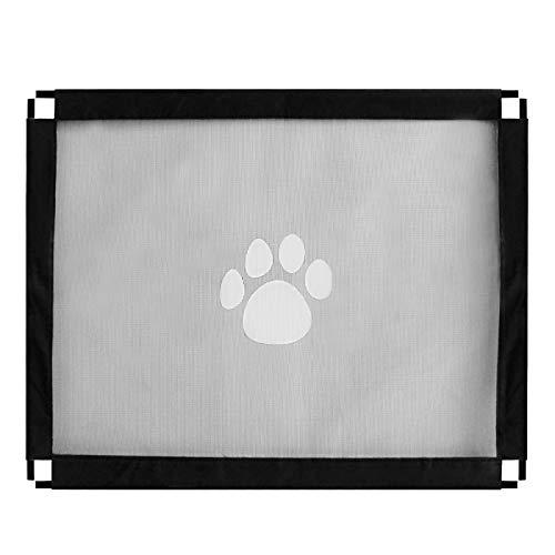 Makerfire Treppenschutzgitter Hunde Türschutzgitter Abschließbar Hundeschutzgitter Treppenschutzgitter Absperrgitter für Haustier Hundenetz 39x31.5