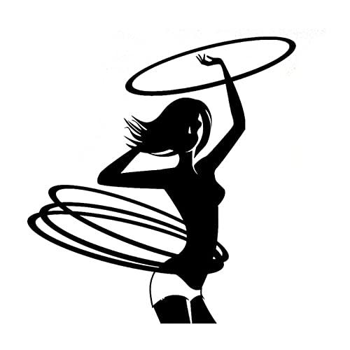 PAOPD Pegatinas de Coche Divertidas 11,2 CM * 11,9 CM Chica Gimnasia Fitness Deportes para portátil, Coche, monopatín, Botellas de Agua, Guitarra, Tabla de Snowboard (3 Piezas