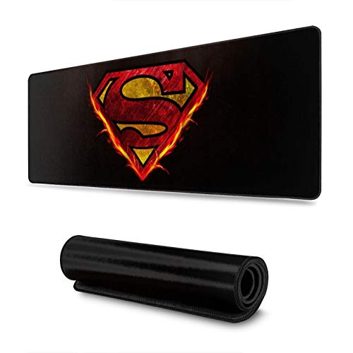 Superhero Superman Gaming Mousepads Non-Slip Rubber Electronic Sports Mouse mat s Oversized Large Mouse Mat, Rectangular Mouse Pads 11.8 x 31.5 inch