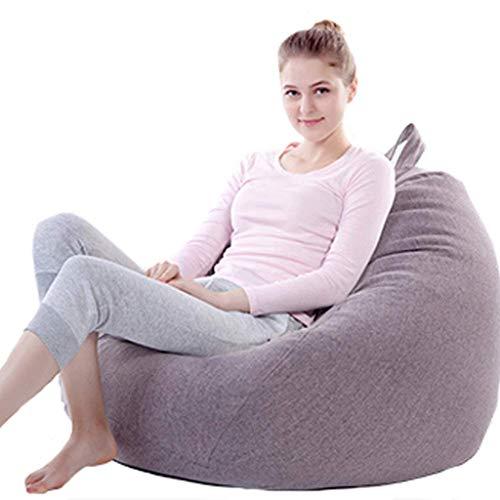 LLHJD Lazy bank zitzak stoel, multifunctionele verwijderbare schoonmaak riem handvat EPP graan vulling, slaapkamer woonkamer cafe spel stoel tuinstoel, 70 * 80cm