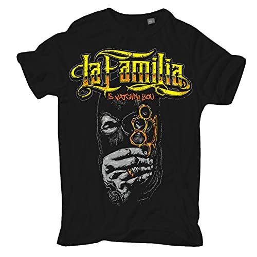Männer und Herren T-Shirt La Familia FCK is Watching You Größe S - 5XL