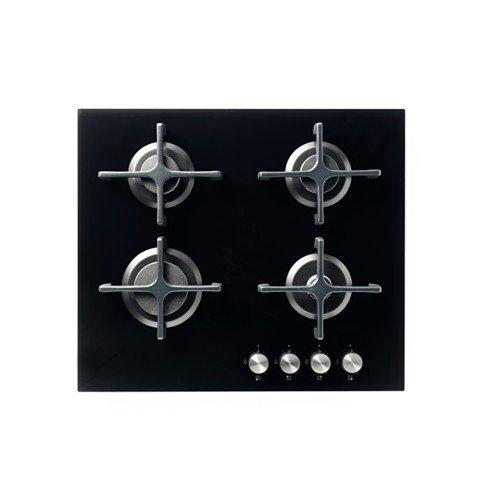 Ikea LIVSGNISTA - Piano cottura a gas, vetro nero