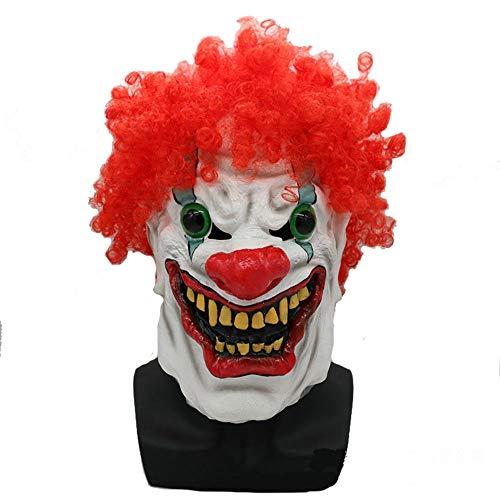 Halloween, Masker Clown Met Rood Haar Pennywise Volledige helm hoofd Latex Adult Cosplay Kostuum Halloween Fancy Dress, Unisex-Adult