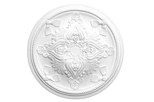 1 placa embellecedora de techo decoración roseta de pared techo NMC poliestireno ø43cm, R-13