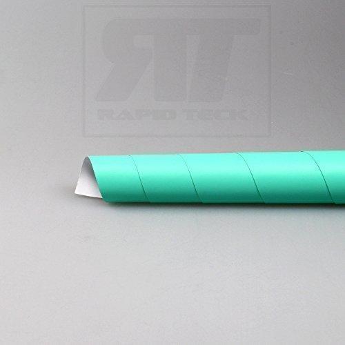 TipTopCarbon 8,55€/m² Autofolie Matt Türkis 152cm Breit Blasenfrei Autofolie selbsklebend mit Luftkanäle 3D Flex Folie Auto