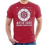 Cloud City 7 Portal Aperture Science Innovators Christmas Snow LogoMen's T-Shirt