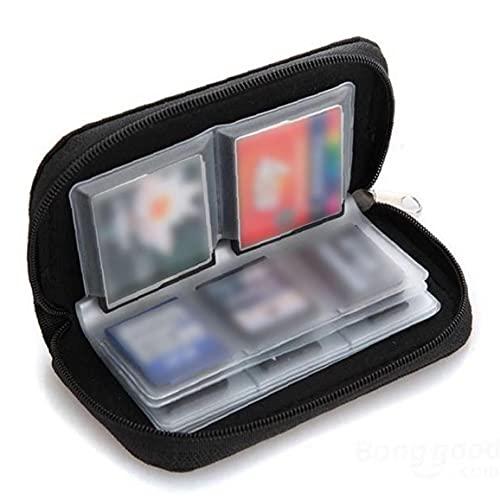 MaylFre 22 Slots Speicherkarten-Tasche wasserdicht SD-Kartenhalter-Tragetasche für Micro SDHC SDXC TF SIM-Karte CF-Schwarz Multi-Purpose-Tool