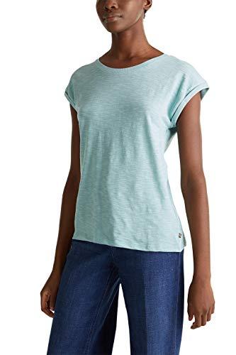 Esprit Damen 020EE1K308 T-Shirt, 393/LIGHT Aqua Green 4, S