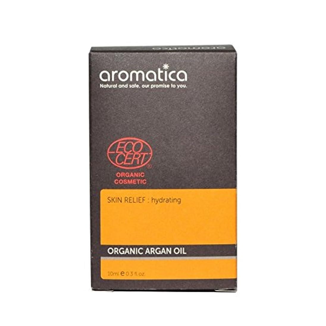 旋律的シロクマ後方aromatica Organic Argan Oil 10ml (Pack of 6) - オーガニックアルガンオイル10ミリリットル x6 [並行輸入品]