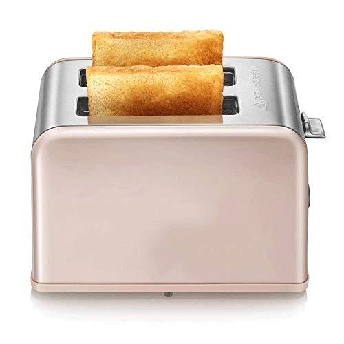 WCJ familie Mini automatische elektrische broodrooster machine brood sandwichmaker machine huishouden ontbijt machine met stofhoes (kleur: roze)