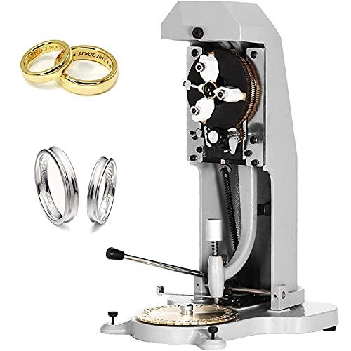 Máquina tallar anillos interiores DIY, cortadora grabadora de letras/números/símbolos de 2 lados para el grabado interior de anillos personalizados, equipo de procesamiento de joyería