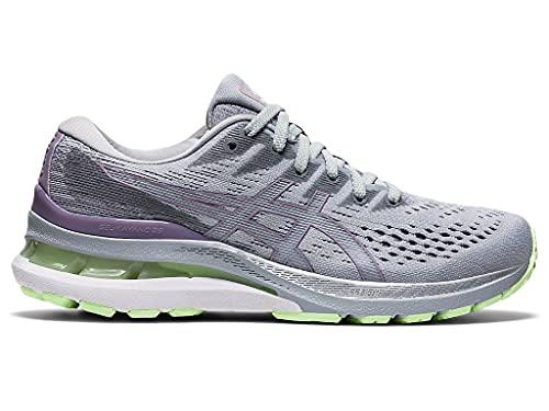 ASICS Women's Gel-Kayano 28 Running Shoes, 9, Piedmont Grey/Soft Lavender