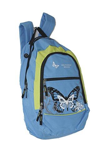 Rucksack Sport, Schule, Reise, Trekking viele modell (Schmetterling/BLAU)
