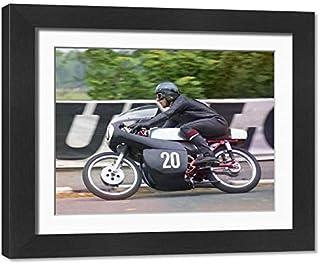 Framed 9x7 Print of Bob Ware (Yamaha) 1971 Ultra Lightweight TT (20588384)