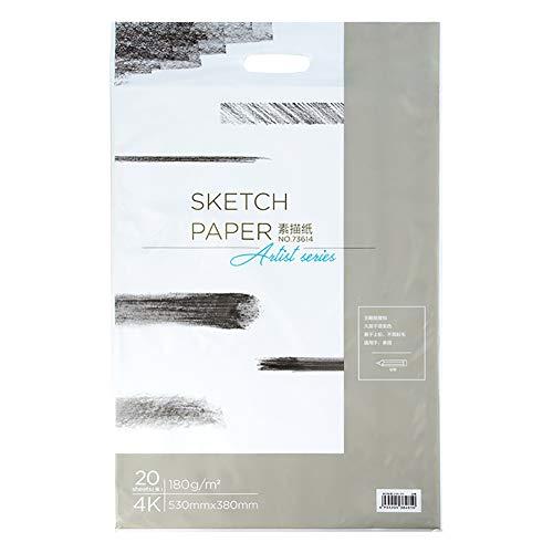 Z·Bling Papel de boceto de Dibujo Blanco,110 g / 160 g / 180 g,4K / 8K,Paquete de 20 Hojas