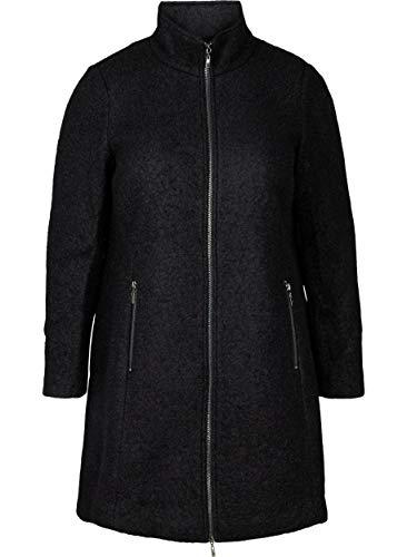 Zizzi Damen Große Größen Jacke Reißverschluss Wolle Taschen Gr 42-56