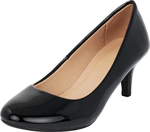 Round toe pumps low heel _image3