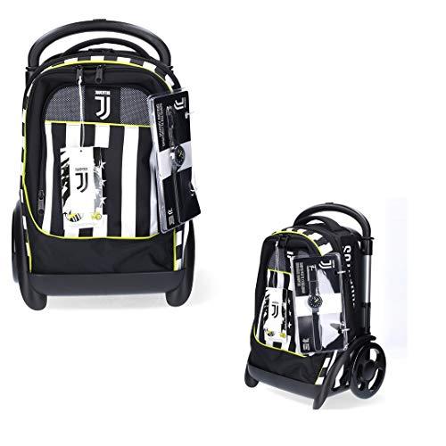 Juventus Trolley Modulare Tyre - Collezione Scuola 2020/2021-100% Originale - 100% Prodotto Ufficiale - Orologio in Omaggio - Dimensioni: 39 x 58 x 28 cm
