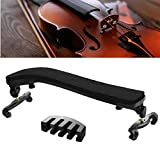 Suewio Violin Shoulder Rest for 4/4-3/4 Size, with Collapsible and Height Adjustable Feet