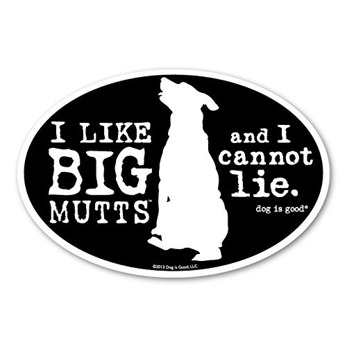 Dog is Good Oval Car Magnet Big Mutts - Great Gift for Dog Lovers, 4x6 Inches