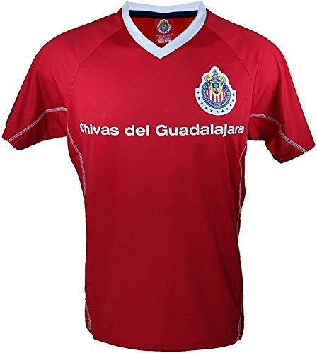 Chivas De Guadalajara Offizielles Fußballtrikot für Erwachsene, Poly Jersey 001, schwarz, Adult