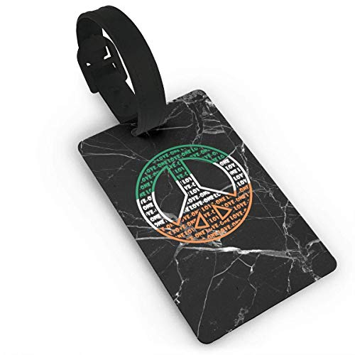 liang4268 Kofferanhänger Irish Flag Peace Sign Luggage Tag Label Suitcase Tags Travel Bag Labels Unique Design Business Card Holder for Baggage for Baggage Suitcase Tags Bulk