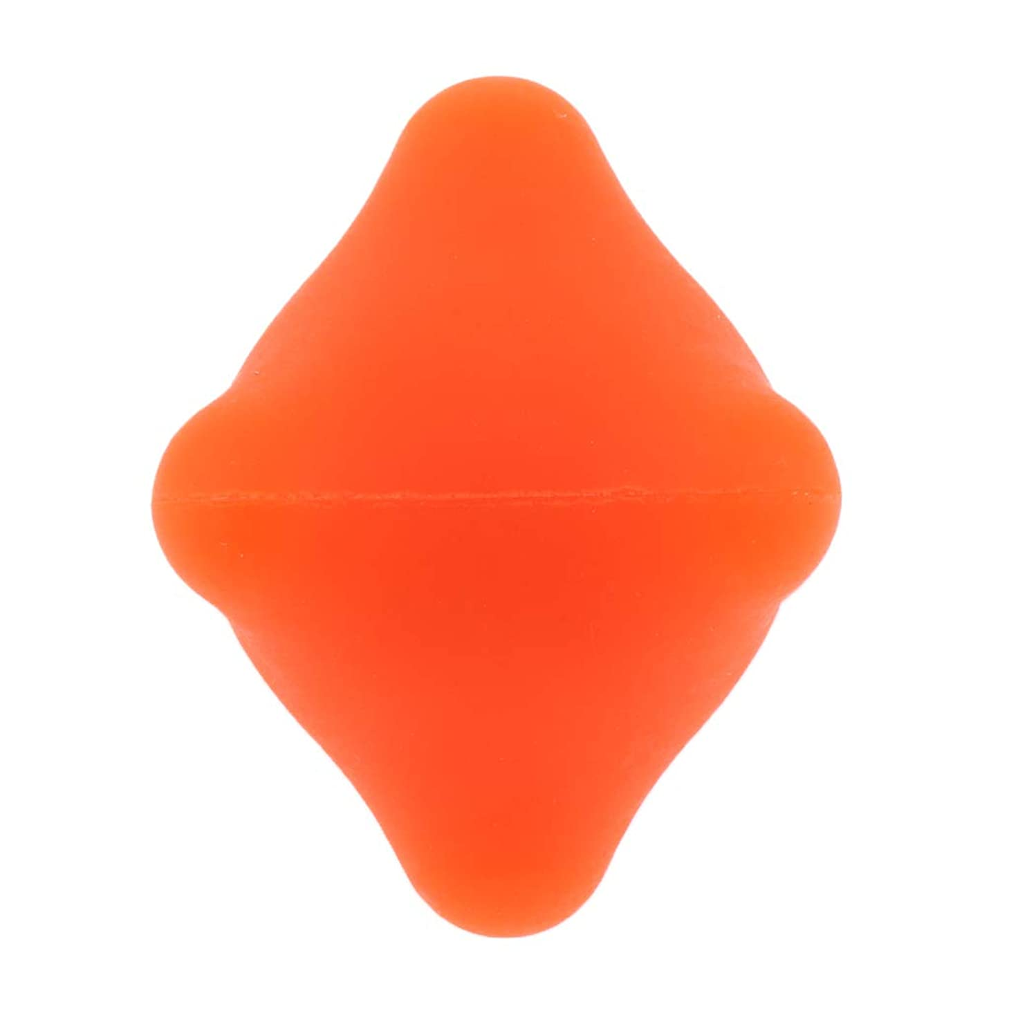 グリーンランド噛むアラブサラボ全9色 マッサージボール 指圧ボール 六角 筋膜リリース トリガーポイント 背中 足裏 ストレス解消 - オレンジ, 4.4cm