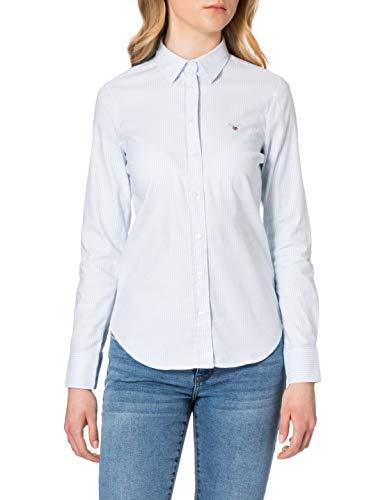 GANT Stretch Oxford Banker Shirt Blusas, Azul Claro, 34 para Mujer