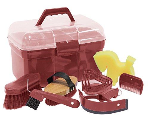 Amesbichler Pulizie Box Scatola Riempito con Accessori per Cavalli Colore: ruggine | Scatola |...