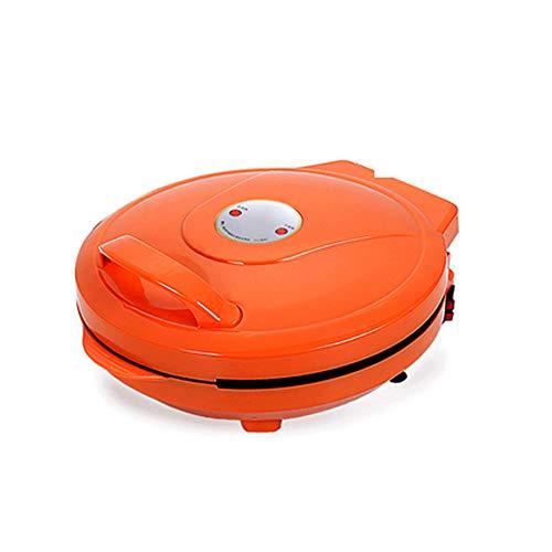 Pizza-pannenkoekenmaker, draagbare elektrische ronde bakplaat met indicatielampje, voor individuele pannenkoeken, koekjes, eieren, andere onderweg Ontbijt, lunchsnacks