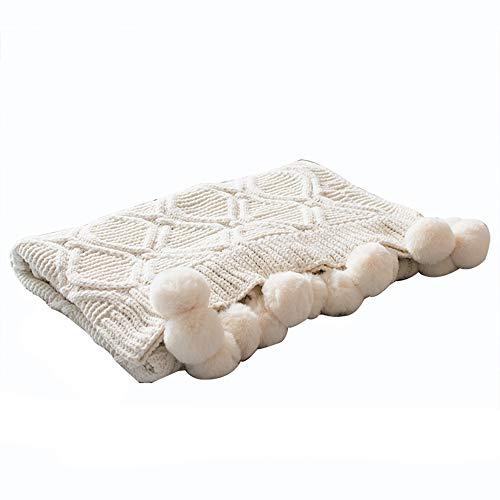 NBWS Baby Knitting Rabbit Lana Blanket Handmade croch Ted Bedding Quilt Throw Crib Wrap Cover Blanket sofá Beach Rug Mat 130x 160cm