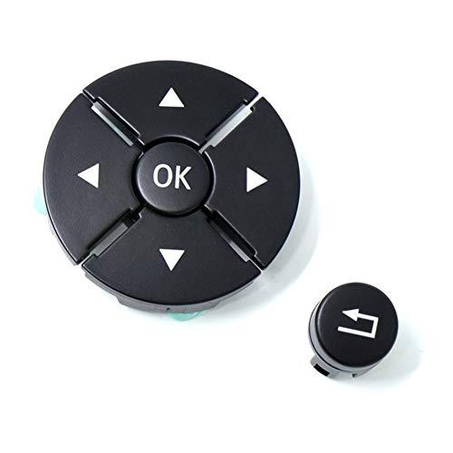 N/F CCFS Auto-Lenkrad-Schalter Taste Abdeckung ABS Haltbarkeit Auto-Innen Zubehör Fit for Mercedes Benz S-Klasse W221 2009-2013 (Color : Black Left)
