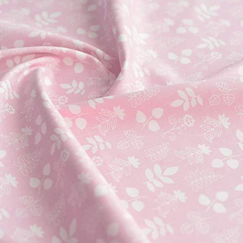 LILIJD Telas Infantiles Telas De Confección, Tejidos De Algodón para Niños, Textiles De Artesanía para Tejidos De Costura, Sábanas(Color:Rosado)
