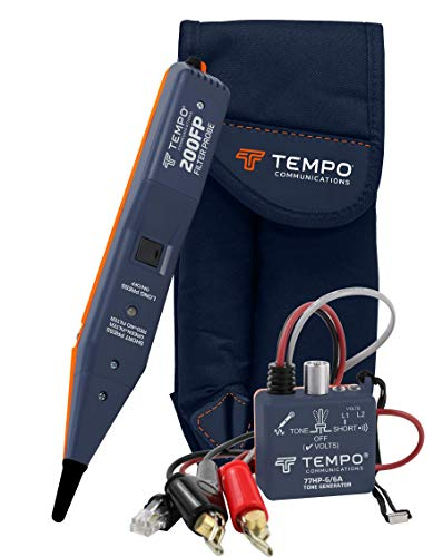 Tempo Communications 801K Tone Generator and Filtered Probe Kit - Professional Wire Tracer Kit (Latest Model)