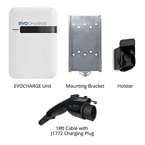 EVoCharge EVSE, Level 2 Electric Vehicle Charging Station with 18 ft Cable, 240V 32A, UL Listed EV Charger, NEMA 6-50 Plug, Indoor/Outdoor Rated, Charge up to 8X Faster Than Level 1