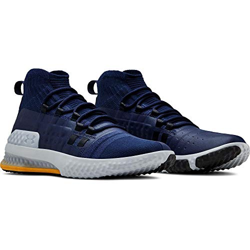 Under Armour Project Rock 1 Men's Training Shoes (8, Navy/Steel/Taxi (403))