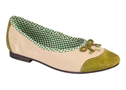 Spieth & Wensky Kinder Trachten Ballerina - Jade - rot, Fuchsia, apfelgrün, Größe 31