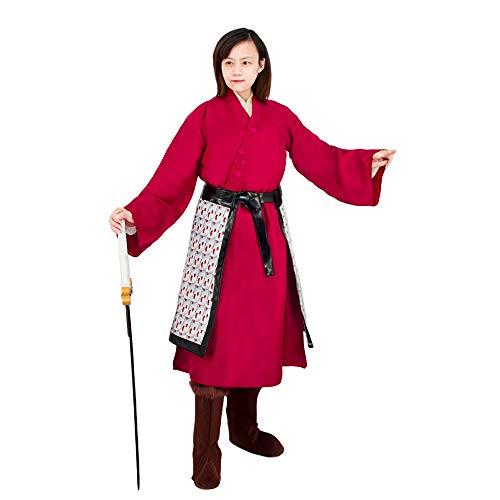 COSAUG Disfraz de Mulan Vestidos de heroína China,Size Large