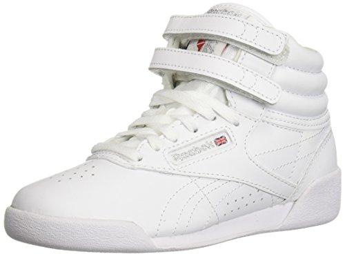 Reebok Kids' Freestyle Hi Walking Shoe, US-White/Silver, 6.5 M US Big Kid